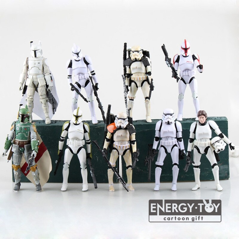 """מלחמת כוכבים שחור סדרת האן סולו קיסרי Sandtrooper PVC פעולה איור בובת דגם צעצוע 6"""""""