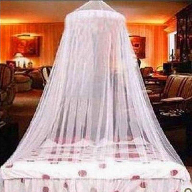 Эффективная москитная сетка, двойной размер, Белый, четыре плаката, кровать принцессы, москитная сетка