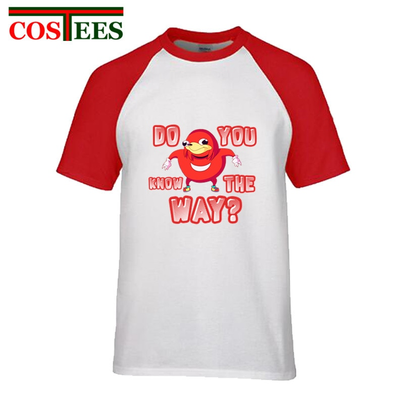 Lindo Internet meme gracioso T camisa los hombres ¿Sabes de wae kawaii Uganda camiseta de nudillos ¿Sabes la manera viral meme Tee shirt