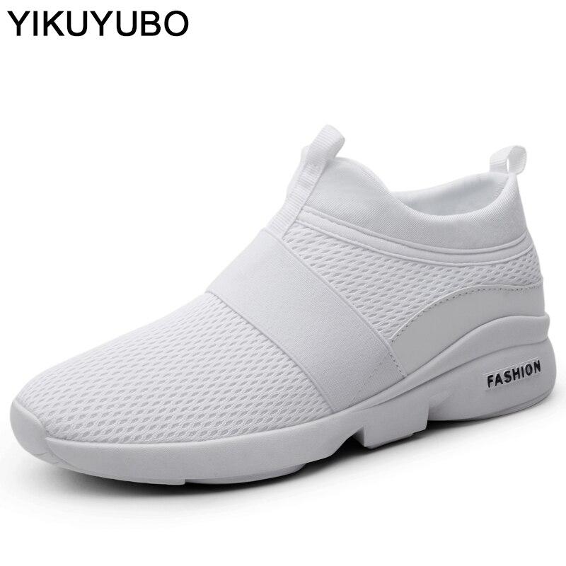 YIKUYUBO de verano zapatos de moda para hombre zapatillas de zapatos casuales zapatos de los hombres, cómodas y transpirables zapatos de malla Plus tamaño 46