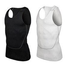 Ropa Deportiva camiseta sin mangas con capa Base elástica de compresión para hombre