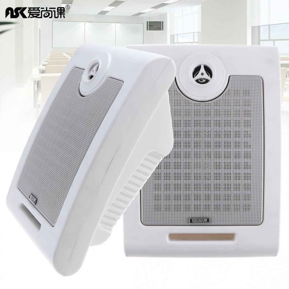 2pcs/lot 10W Fashion Wall-mounted Ceiling Speaker Public Broadcast Speaker  for Park / School / Shopping Mall