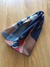 2019 new arrival fashion elegant brand chain pattern  100% silk scarf 90*90 cm square shawl twill wrap for women  free shipping
