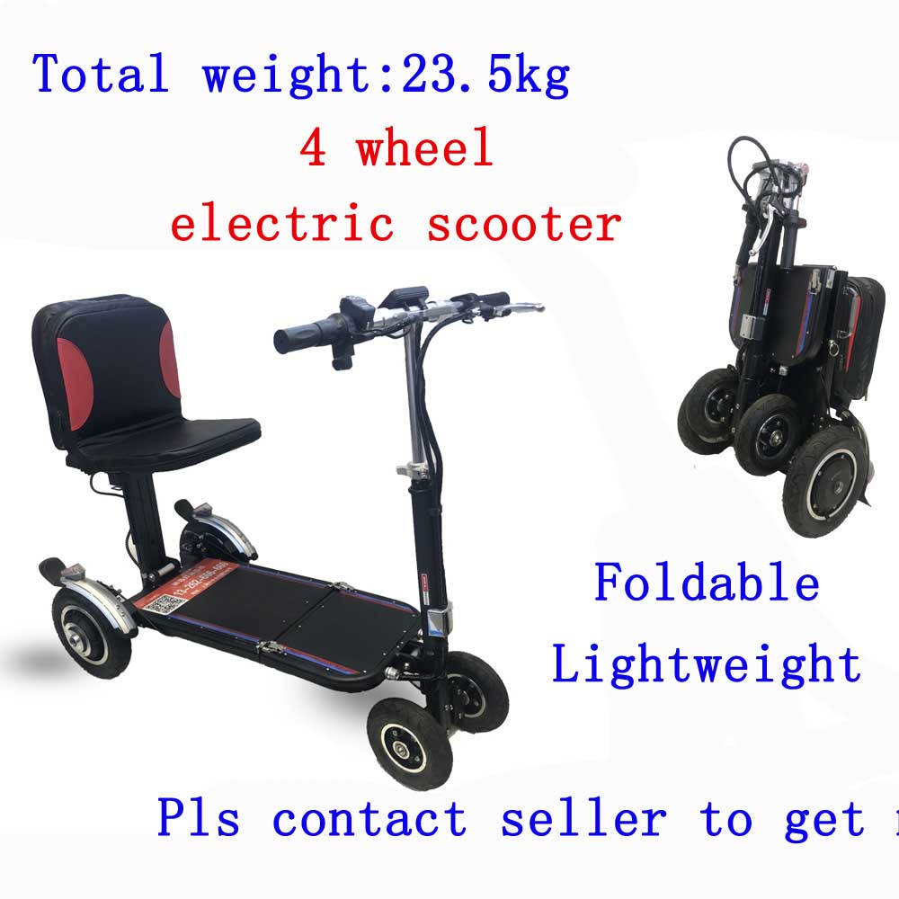Paso ligero ancianos scooter Eléctrico de cuatro ruedas scooter portátil plegable ancianos discapacitados de coche inteligente scooter