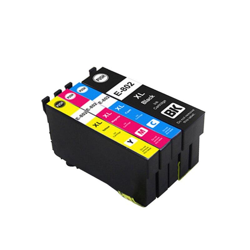 Vilaxh T802 T802xl cartucho de Tinta Para Epson WorkForce WF-4720 WF-4730 WF-4734 WF-4740 WF-4745 tinta de impressora Stylus