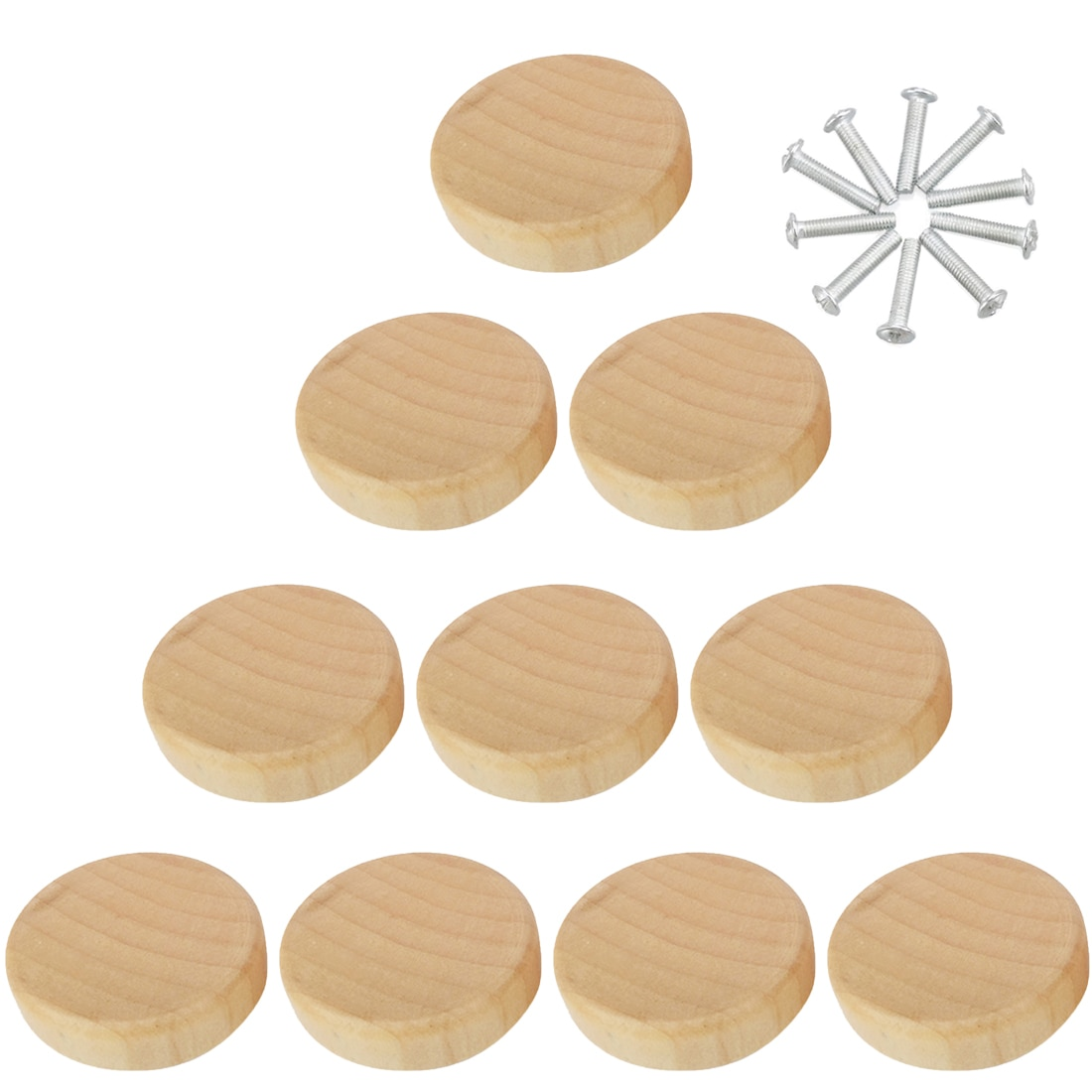 8pcs /10pcs /20pcs /50pcs Solid Wood Single Hole Handle Drawer Cabinet Door Wooden Pull Handle Furniture Handle Knob Hardware