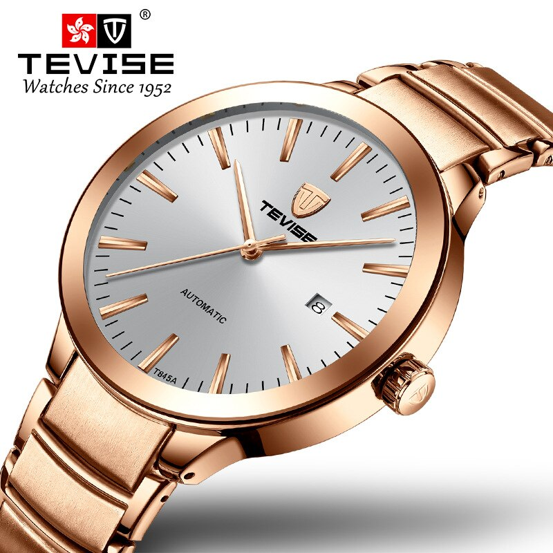 TEVISE Mens Watches Top Brand Luxury Simple Automatic Watch Man Date Waterproof Mechanical Wristwatc