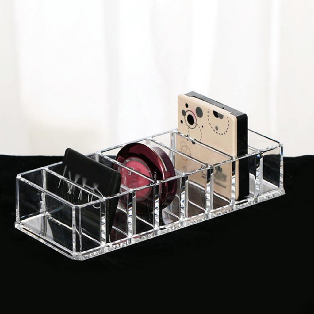 Caja de almacenamiento de escritorio transparente rectangular productos cosméticos para el cuidado de la piel cajón estantería de almacenamiento acrílico divisor cajas de maquillaje para el hogar