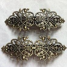 Donna Barrettes di Modo Francese del Barrette Dei Capelli Bronzo Antico filigrana Clip di Capelli Spille Spille per la donna accessori dei monili Dei Capelli del metallo
