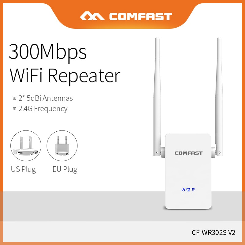 Comfast 300Mbps Wireless WIFI Amplifier Booster Strong WIFI Signal Repeater 2 Amplifier Extender WiFi CF-WR302V2