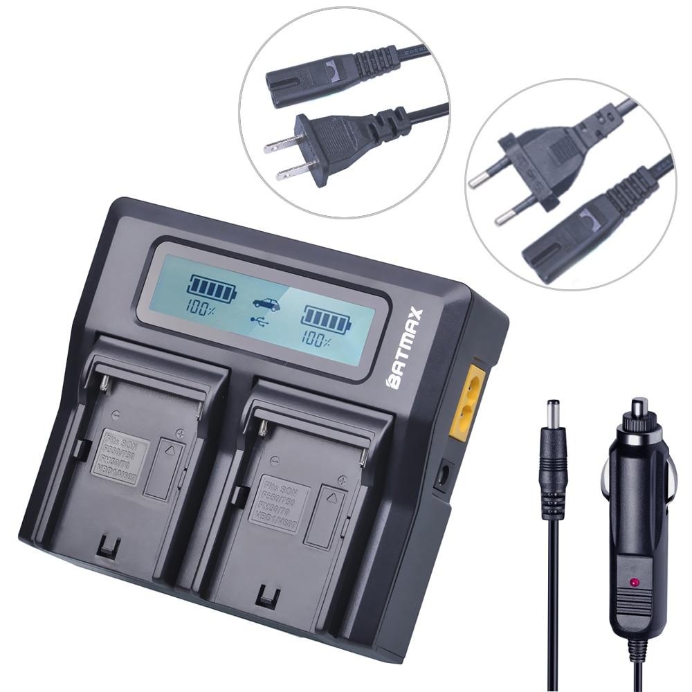 Lcd duplo rápido carregador de bateria para sony np f770 f750 f570 f530 np f970 f960 f950 f930 NP-FM50 NP-FM500H NP-QM71D NP-QM91D