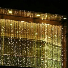 Extérieur étanche 3m x 3m 300 LED LED rideau glaçon chaîne lumière noël nouvel an fête de mariage lumières décoratives AC110V/220 V