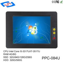 Offre spéciale 8.4 pouces écran tactile industriel tablette PC IP65 conception sans ventilateur pour ATM et Machines publicitaires et POS système panneau PC