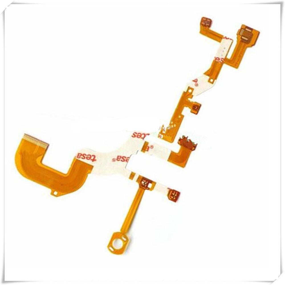 100% NOVA Traseira Lente Principal Flex Cable Para SONY Cyber Shot-DSC-WX300 WX300 DSC-WX350 WX350 Digital Camera Repair Parte (sem Soquete)