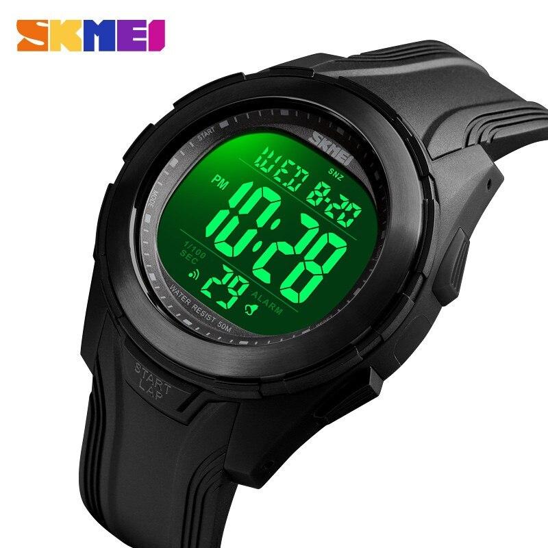 SKMEI спортивные цифровые часы для мужчин светодиодный дисплей подсветка мужские s часы 5 бар водонепроницаемый электронный будильник часы Relogio Masculino 1503