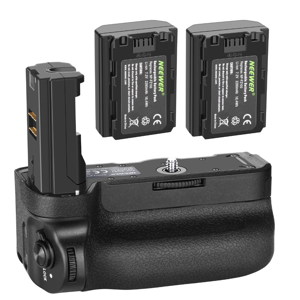 Neewer العمودي قبضة البطارية لسوني A9 A7III A7RIII كاميرات ، استبدال لسوني VG-C3EM + 7.2v 2280mAh 16.4Wh ليثيوم أيون بطارية