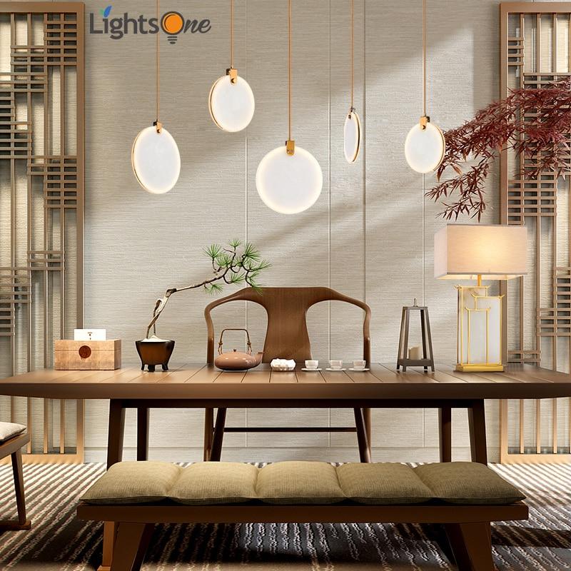 الحديثة الإبداعية مقهى متجر الملابس قلادة ضوء مطعم بار غرفة نوم تقليد الرخام الراتنج مصباح صغير تزيين مُثبت