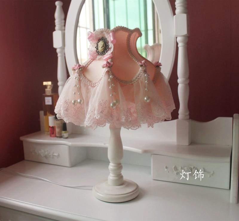 Candeeiros de mesa moderna lâmpada led tecido tons para sala estar quarto luminárias mesa princesa luz casamento decoração da sua casa e27