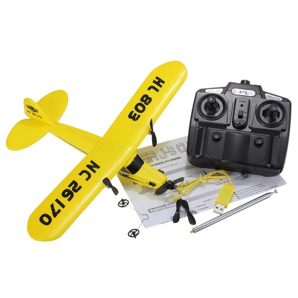 Frete grátis gaivota RTF 2CH HL803 rc avião EPP material/rc planador/avião de controle de rádio/modelo avião