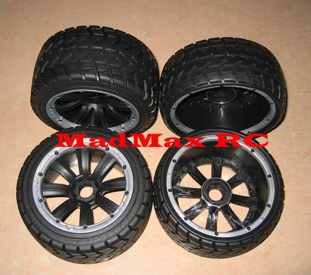 MadMax Top quality strong grip road  tarmac tire wheel set for HPI KM ROVAN BAJA 5B LOSI DBXL