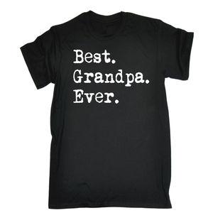 Best GRANDPA Ever T-shirt Tee Grandad Funny Birthday Gift 123t Present for Him Summer Short Sleeves T Shirt Fashion