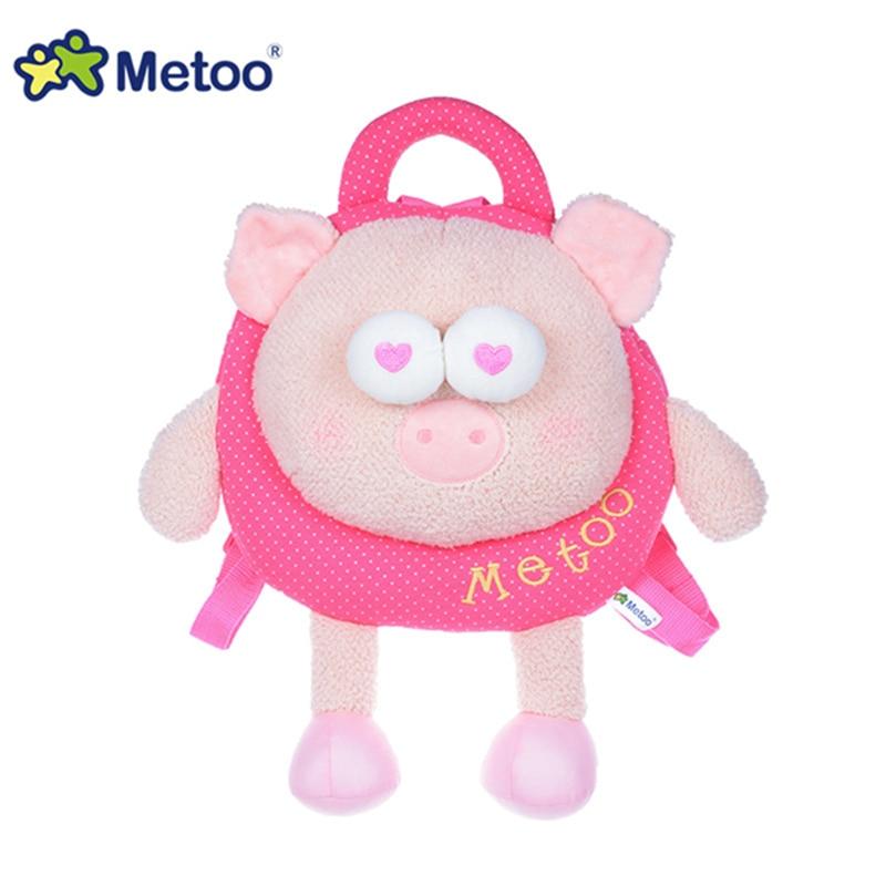 ¡Novedad! Juguetes de peluche Metoo Animal Pig para niños mochilas para niños Mochila De felpa Metoo para niña de jardín de infancia A96