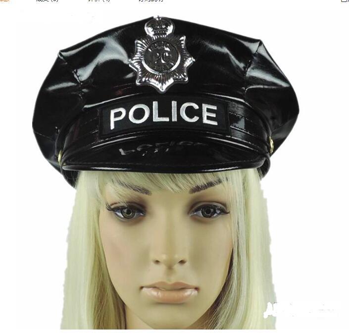 Casquettes de déguisement chapeau de Police Performance uniforme noir casquette octogonale Police marine chapeau légende casquette capitaine