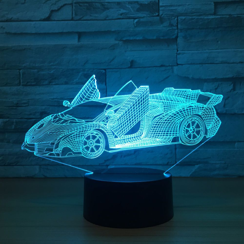3d lamp fortnite game chug jug scar rocket launcher gliding led night light 7 color change touch mood lamp Cool Super Car Acrylic 3D Lamp 7 Color Change Small Night Light Baby Color lights LED USB Desk lamp Atmosphere Night Decor lamp