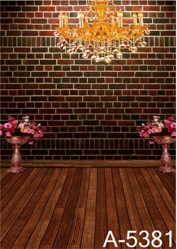 LIFE MAGIC BOX fondos de fotografía Flor de piso de madera, Fondo de paredes de ladrillo rojo oscuro Fz1 foto estudio Mh-5381