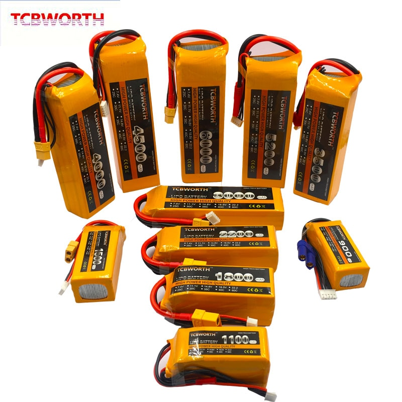 3S RC LiPo Battery 3S 11.1V 1300 1500 1800 2200 2600 3000 3500 4200 6000mAh 25C 35C 60C For RC Airpl