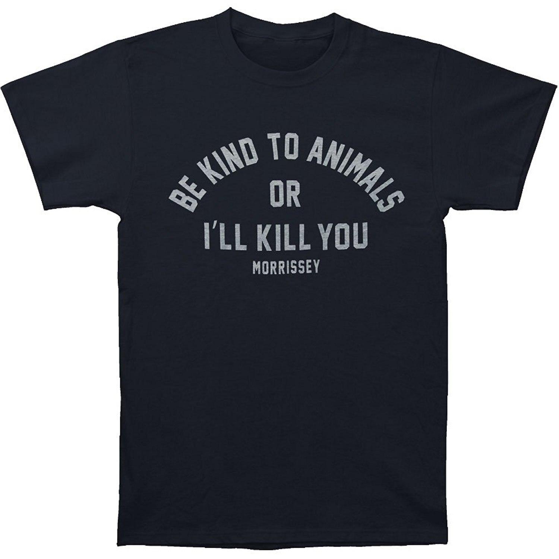 Morrissey, camiseta negra ajustada Be Kind para hombre, novedad de verano 2018, gran oferta, camiseta estampada a la moda para hombre, camiseta, camiseta