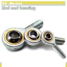 SA5 T/K m5   10 pièces, roulement à embout de tige, fixation haute résistance, roulements à filetage métrique en fonte, roulement à joint