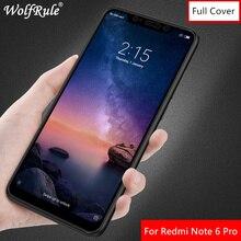 Full Glue Tempered Glass For Xiaomi Redmi Note 6 Pro Screen Protector 6.26 Coverage Black Film Glass