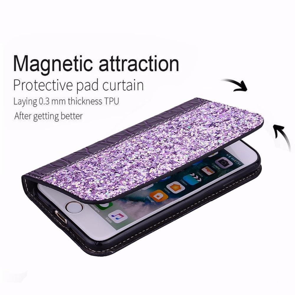 Funda para Samsung Galaxy XCover 4 funda Flip Bling Glitter stand cocodrilo cartera suave para Galaxy X funda 4 g390 kimTHmall