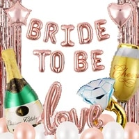 bride to be balloon set love foil balloons rose gold color latex balloons diy parties wedding party decorations adult