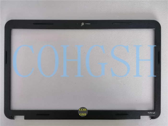 Novo original display lcd moldura frontal assembléia para hp G6-1A 1b 1c 1d G6-1A00 639509-001