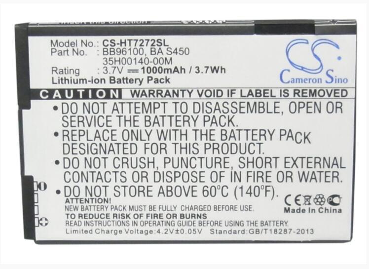 Cameron Sino 1000mAh battery for HTC 7 Mozart A315C A3360 A3366 A3380 A6390 A7272 BB96100 Desire Z F5151 Mozart PC10100