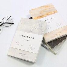 Japonais mignon papeterie NOTE pour SILENCE marbre conçoit couverture souple A5 cahier lignes Composition journal couture reliure