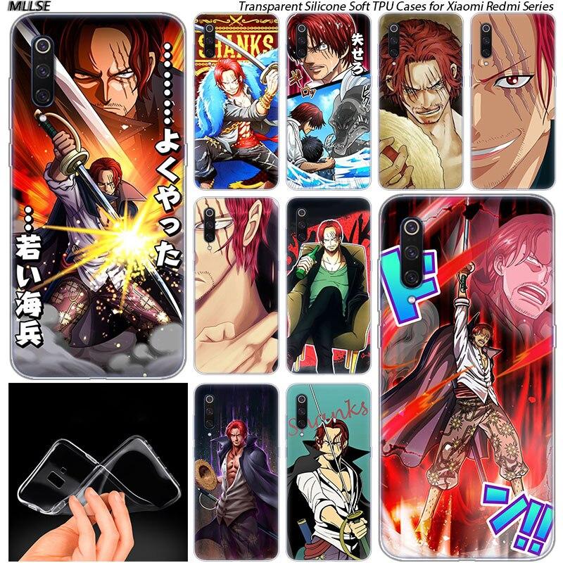 Hot Anime One Piece Akagami Shanks Soft Case for Xiaomi Pocophone F1 Mi 5X A1 6X A2 8 SE Lite Play Mix3 9 9SE 9T Pro CC9