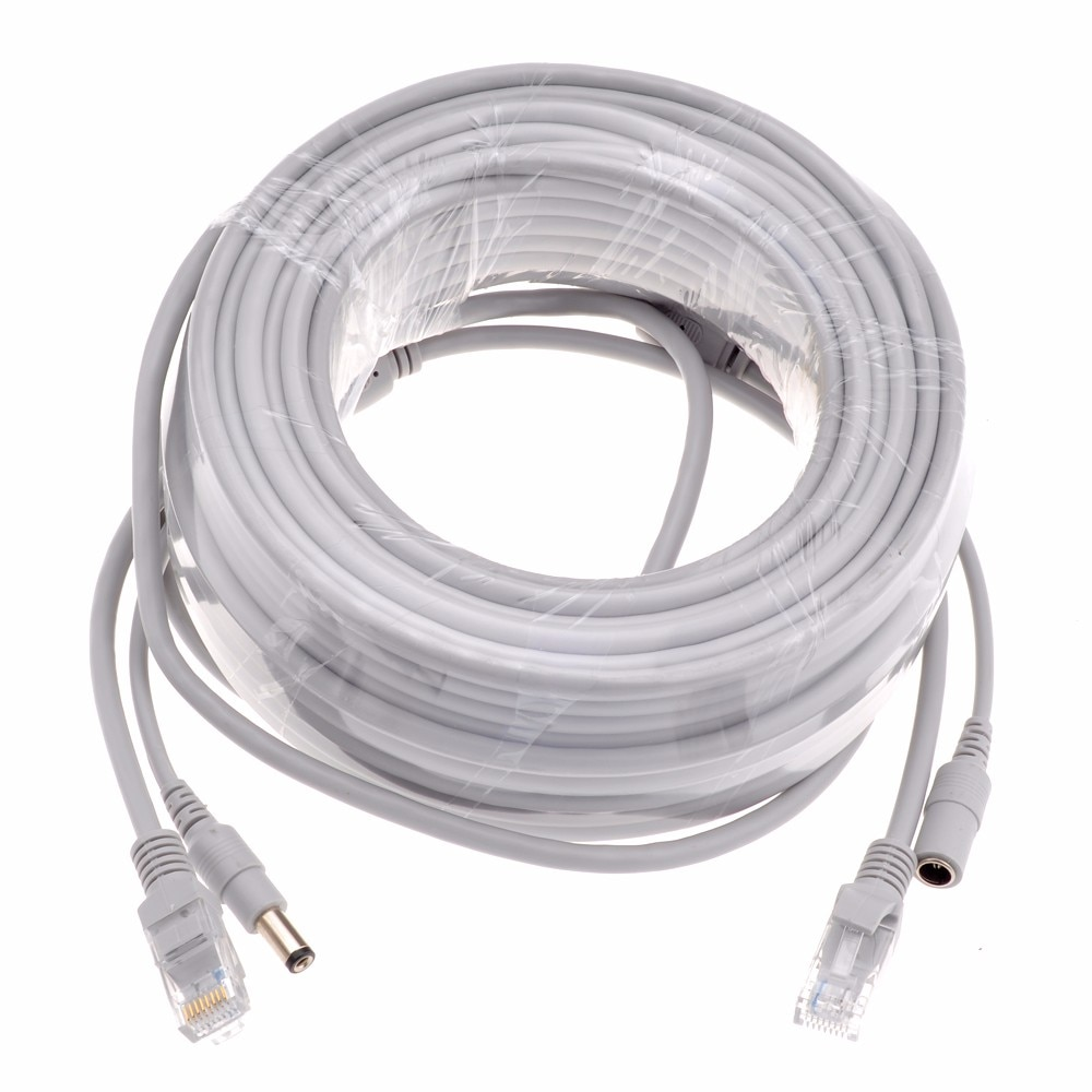 5M/10M/20M/30M Cat5e Ethernet Cable RJ45 Network LAN Cable + DC Power Router Computer Cable For IP Camera System enlarge
