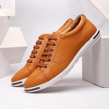 DESAI Big Size 38-48 Men Casual Shoes Fashion Leather Shoes for Men Breathable Mens Flat Shoes Dropshipping