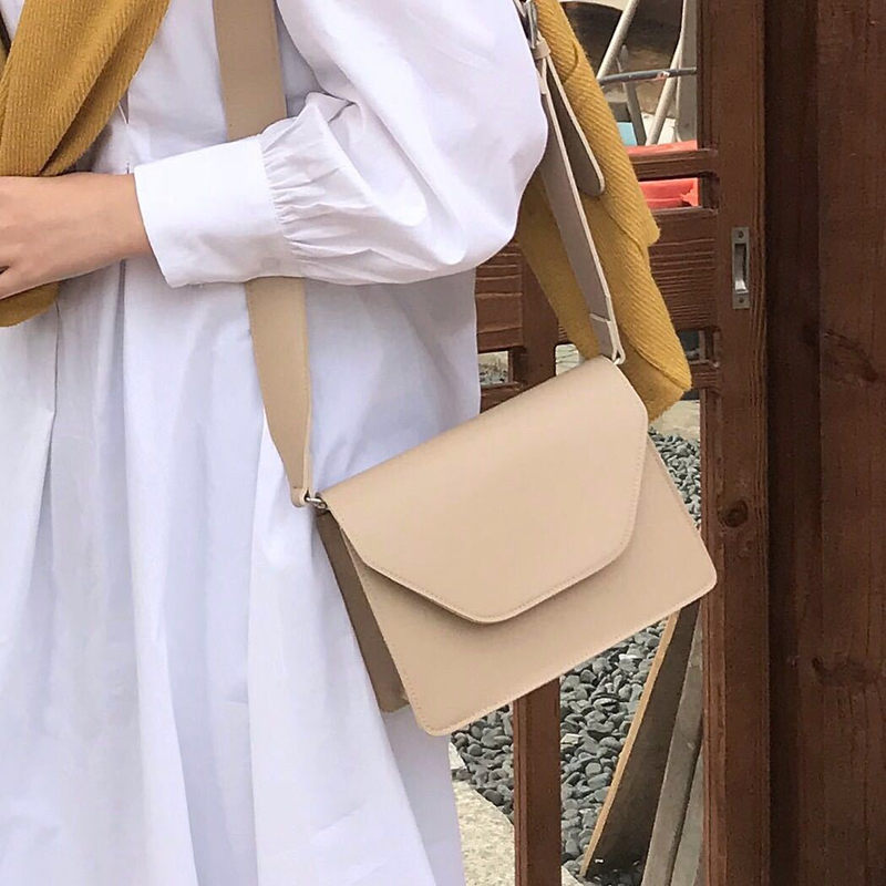 RanHuang New Arrive 2020 Women Pu Leather Shoulder Bags Girls Brief Flap Women's Casual Messenger Ba