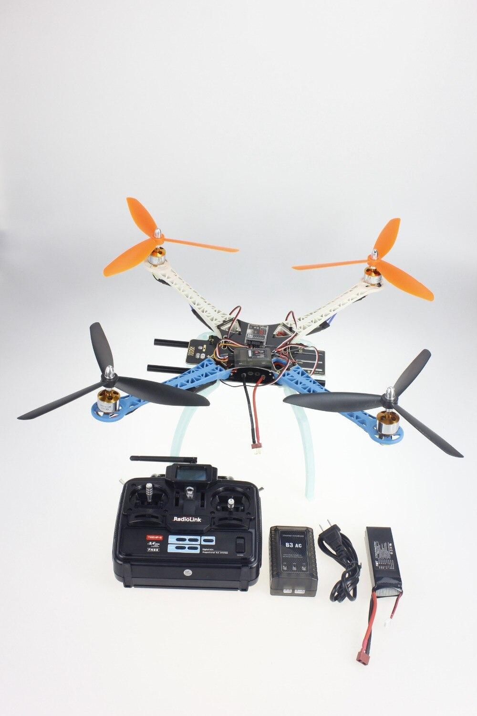 Dron JMT DIY, Kit completo actualizado, marco de S500-PCB 1045, 3 hélices, 4 ejes, Multirotor RC 6CH QuadCopter UFO RTF/ARF F08191-A