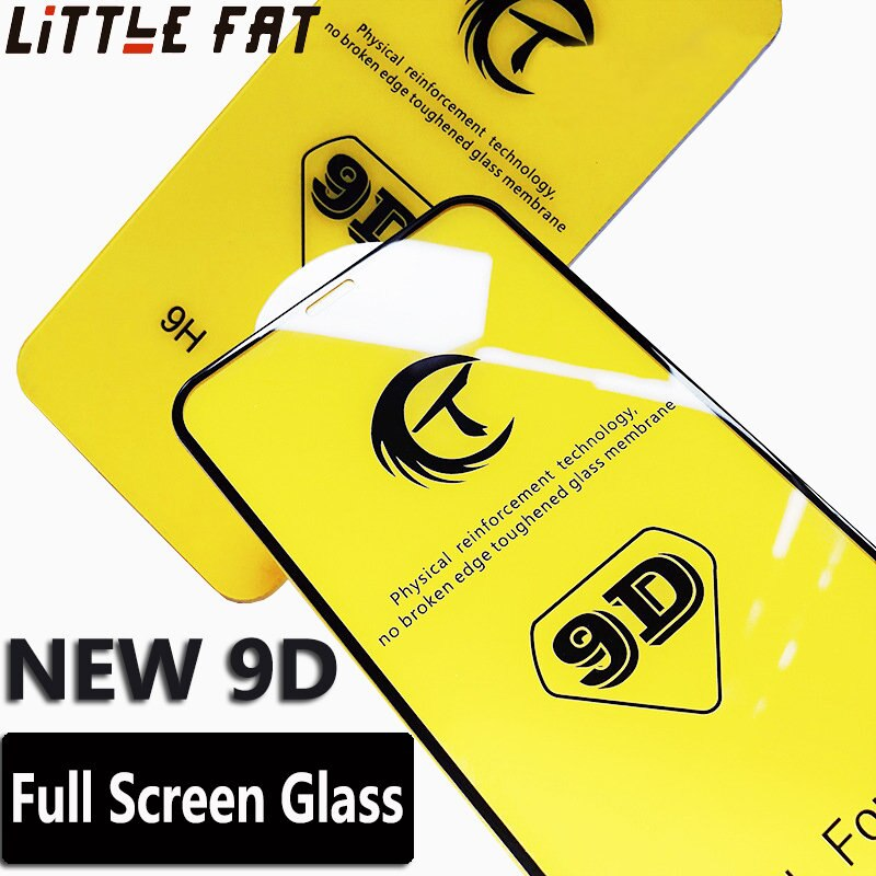 Vidrio templado de borde de cubierta completa 9D para iPhone 7 8 6Plus X XS XR XSMAX Protector de pantalla para iPhone6S 7 8Plus película de protección de vidrio