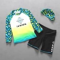 good quality children swimsuit sportswear long sleeves swimwear boy surfing suit two pieces swimming suit bathing suit beachwear
