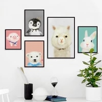 cute pig cubs alpaca rabbit animal poster baby room canvas painting home wall art decoration wall stickers can be customized