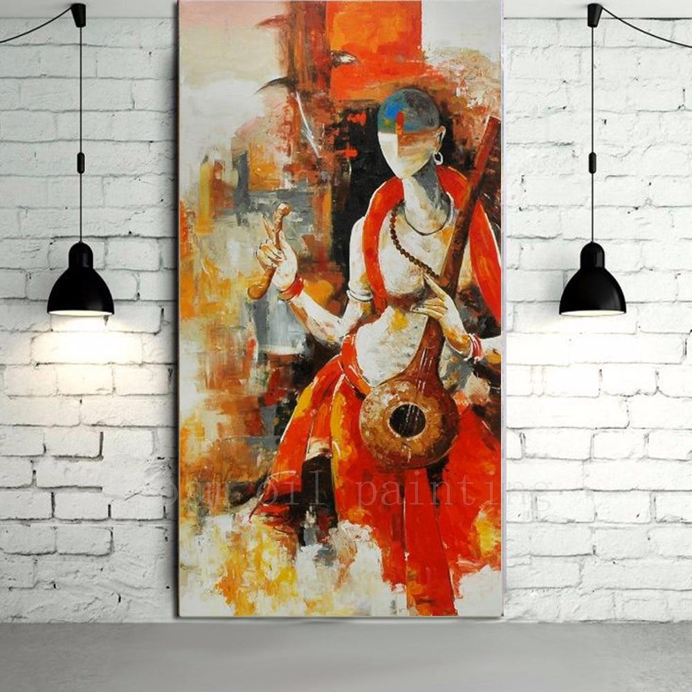 Retrato de deidad hindú abstracto moderno de alta calidad pintura al óleo sobre lienzo pintado a mano arte desnudo pintura para la decoración del hogar
