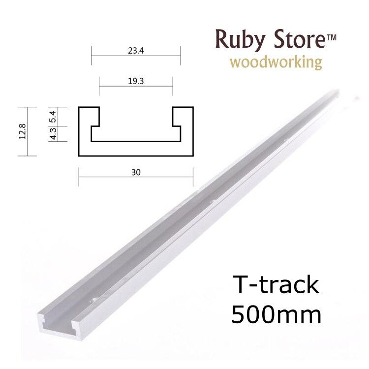 Nueva pista en T estándar de 500mm, pista de inglete de aluminio, ranura para Jig para Sierra de mesa de enrutador