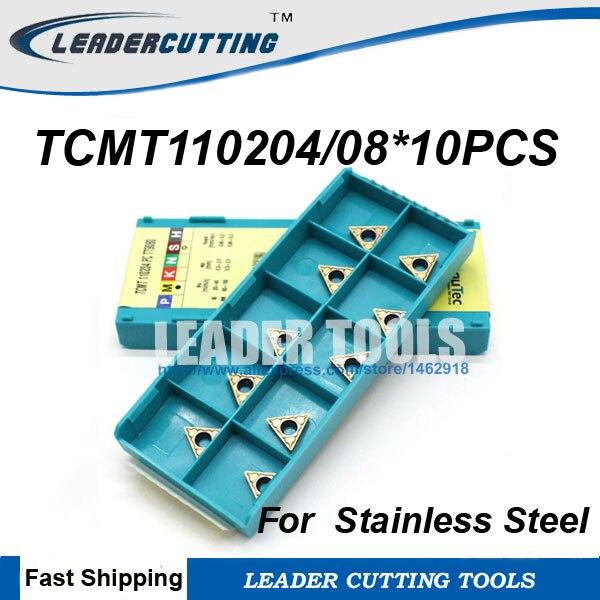 TCMT090204PC TCMT110204PC TT9080 TCMT110208-PC TT9080 TCMT110202FA * 10 Uds TaeguTec torneado original, para acero inoxidable