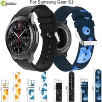 watchband printing 22mm luxury brand fashion sports silicone bracelet watchstrap band for samsung gear s3 46mm for amazfit 22s